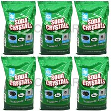 6 x 1kg DRI PACK SODA CRYSTALS MULTI PURPOSE CLEANER LAUNDRY AID WATER SOFTENER