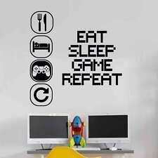 Eat Sleep Play Wall Sticker Mural Vinyl Decal Children room gamers art teenager