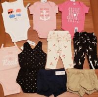 Old Navy Girls 3-6 MONTH Clothing Lot 9 PIECES Bodysuits Shorts Pants #18-265-18