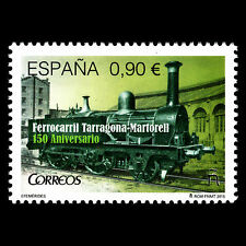 Spain 2015 - 150th Anniv of the Tarragona-Martorell Railway Trains - MNH