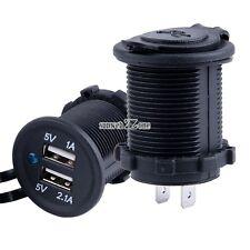Dual USB 2.0 5V Charger Flush mount Socket 12V Volt DC Marine S0BZ