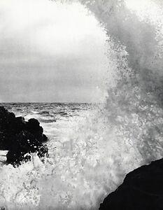 1968 Vintage SEASCAPE OCEAN WAVE ABSTRACT Art Photo Gravure LUCIEN CLERGUE 16x20