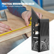 Wolfcraft 3D Mitre Angle Measuring Square Size Measure Tool With Gauge Ruler AU