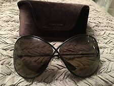 Women's Designer Sunglasses By TOM FORD LILLIANA TF 0131 01P made in Italy