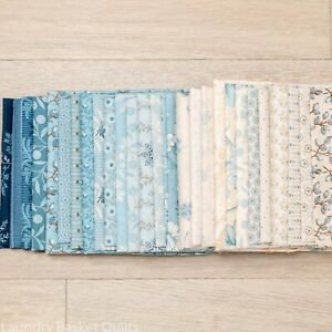 Bluebird 27 Fat Eighth Bundle by Laundry Basket Quilts for Andover Fabrics