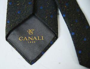 BNWOT  Dot Silk & Wool Tie Canali