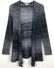 Pendleton Women's Wool Blend Open Front Cardigan Sweater Gray Black Sz XS/S