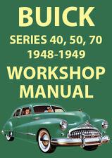BUICK 1948-1949 WORKSHOP MANUAL: SERIES 40, SERIES 50, SERIES 70
