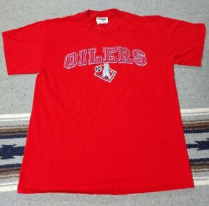 Vintage Tennessee Oilers T Shirt Red Size L Houston Oilers Tennessee Titan