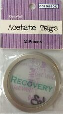 GET WELL Metal Rim Acetate Tag(2pc)Colorbok😷Recovery😷Sick😷Hospital😷Patients