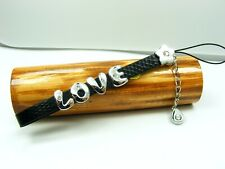 PERSONALIZED Name Cell Phone STRAP w/Dangle CHARM ~Heart/ Star/ Crown/ Key/ Moon