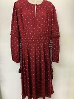 NEW RRP £40 M&S Marks & Spencer Maroon Dress (R4)