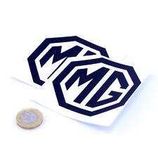 MG Badge Decal Vinyl Car STICKERS 75mm x2 Motorcycle Race Racing Rally Black