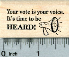 Voting Rubber Stamp, Your vote is your voice E33722 WM