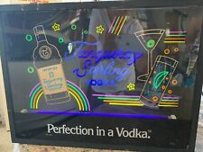 Vintage Tanqueray Sterling Vodka Neon Bar Sign Blacklight Glow in the Dark