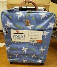 it luggage Worlds Lightest Cabin 2 Wheel Unicorn Blue Suitcase 55cm