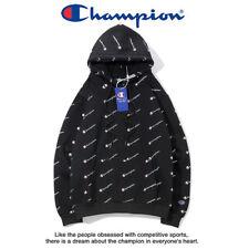 2018 Embroidered Champion Women Men Unisex Cotton Hoodies Sweatshirts Outwear