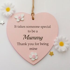 It takes someone special to be a Mummy handmade wooden heart gift plaque