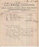 1900 Thos. Hughes Lumber Shingles & Brick, Charleston S.C. Billhead