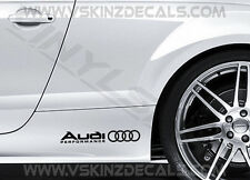 2x Audi Performance Logo Premium Cast Skirt Decals Stickers TT RS S-line Quattro