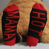 Fashion Unisex Letters Funny Casual Sports Red Black Skateboard Socks Stockings