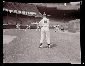 """Ted Williams Fungo Practice 1959 Vintage Original 4"""" x 5"""" Film Negative Photo"""