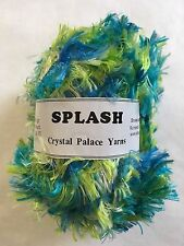 "Crystal Palace Splash #7232 ""Seafoam"" Turquoise Blue Green Feather Boa Yarn 100g"