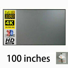 "100"" 16:9 High Contrast Grey Projection Screen Material Home Projector Curtains"
