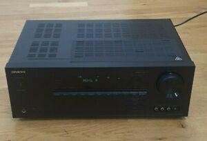 Onkyo TX-SR444 AV Receiver 4k Bluetooth Dolby Atmos 4x HDMI Amplifier - Free P&P