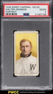 1909-11 T206 Walter Johnson PORTRAIT PSA 2 GD