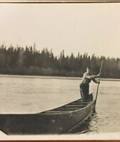 Postcard, 1912 Fraser River, Fort George, Rowing Boat On The Water  Vintage P12