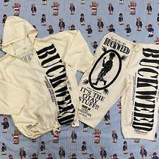 New listing Vtg 90s La Trenzz Buckweed Shirt Shorts Cotton Marijuana Set One Size Contraband
