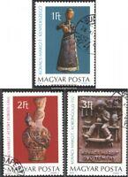 Ungarn 3323A-3325A (kompl.Ausg.) gestempelt 1978 Keramiken
