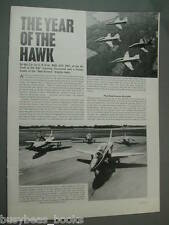 1977 article Hawker Siddeley Hawk trainer, cutaway, photos, info etc