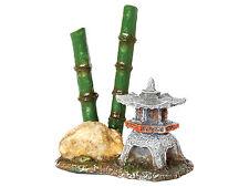 Pagoda with Bamboo Goldfish Bowl Aquarium Fish Tank Ornament Lantern Decoration