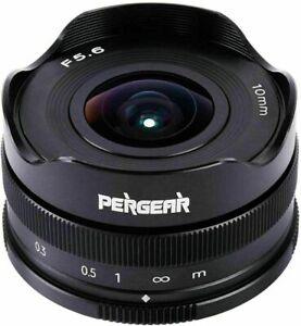 Pergear 10mm F5.6 Fisheye Lens For Fuji X-Mount Camera X-T4 X-T100 X-T200 X-T30