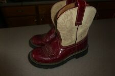 Ariat Fat Baby Boots Leather Upper Shoes Womens sz 6 B