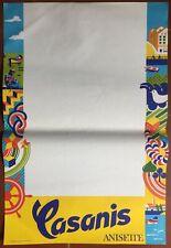 Poster Casanis Anisette Appetizer bar Pub 15 11/16x23 5/8in 60's
