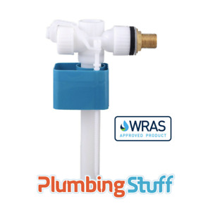 """Quality Toilet Cistern Side Entry Fill Valve 1/2"""" Brass Thread - WRAS Approved"""