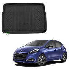 Se adapta a Peugeot 208 2012 en adelante Totalmente a Medida Alfombra Alfombrillas De Coche Negro 4pc conjunto de piso