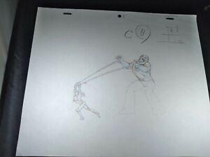 X-MEN animation cel MAIN TITLE Marvel Animated Production Art Marvel SENTINEL 2