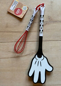 NEW DISNEY STORE EATS MICKEY MOUSE WHISK & SPATULA SET BNWT ADULT CHILD