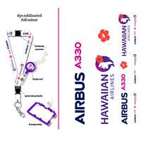 Hawaiian Airlines A330 Lanyard Set