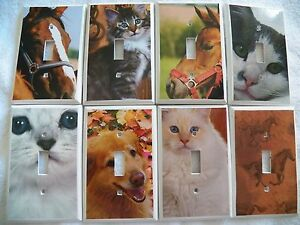 Switchplate Cover ~ ANIMALS - Choose Your Design Light Switch Outlet Cover - New