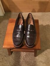 """Mens Coach Cordovan """"Penny"""" Loafers, Slip Ons, Indie, Size 9 B(Narrow)"""