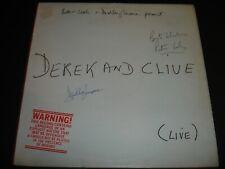 More details for peter cook & dudley moore derek and clive hand signed lp autographed vinyl album