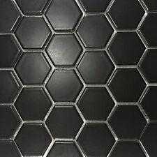 Black Matte Hexagon Mosaics 50mmx50mm On 270x270mm Sheets