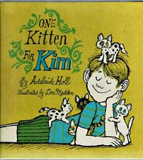 New listing Vintage Children's Book One Kitten For Kim Adelaide Holl 1969 Larger Hardcover