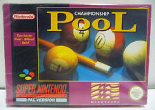 POOL CHAMPIONSHIP - SNES SUPER NINTENDO PAL - BOXED