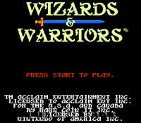 Wizards & Warriors - The Original - Fun NES Nintendo